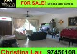 ** 3 sty FREEHOLD Mimosa Inter - Terrace for sale  - Property For Sale in Singapore