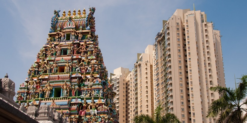 Sri Srinivasa Perumal Hindu Temple and Skyscraper, Singapore