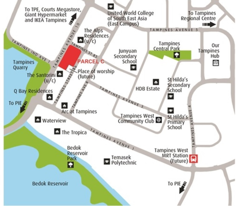URA launches residential site in Tampines