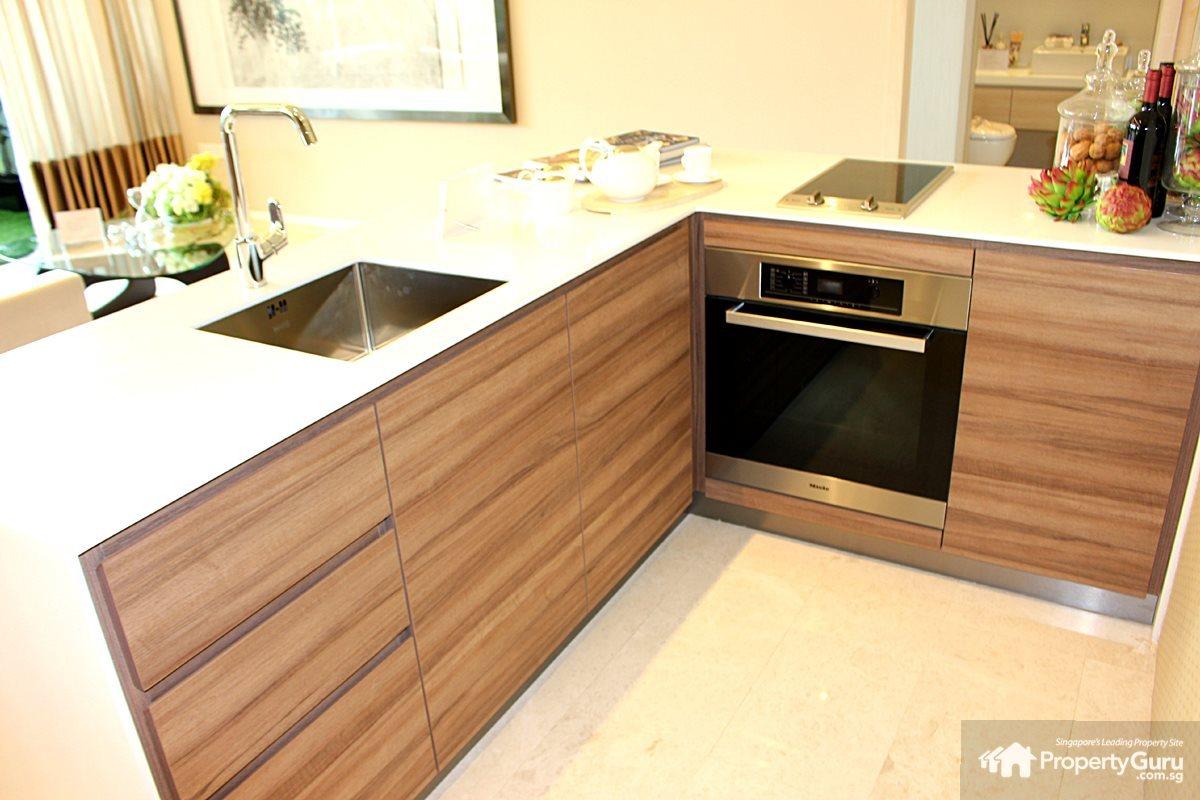 Cream & Grey Brown Avola - Panorama Kitchens