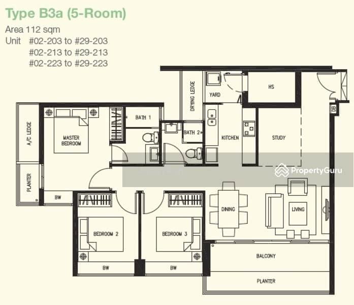 Dbss Parkcentral Amk 588 Ang Mo Kio Street 52 3 Bedrooms