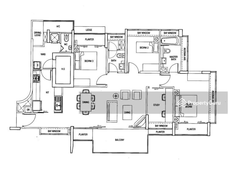 The Parc Condominium, 1 West Coast Walk, 3 Bedrooms, 1421 Sqft ...