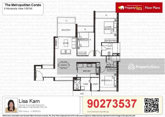 The Metropolitan Condominium, 6 Alexandra View, 3 Bedrooms, 1400 ...
