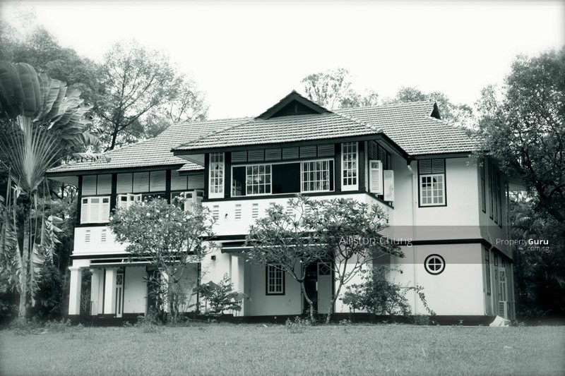 Beautiful black white bungalow good class location historic conservation colonial house 46475667