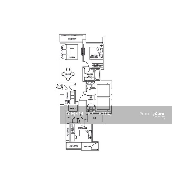 Thomson Grand 13 Sin Ming Walk 2 Bedrooms 904 Sqft