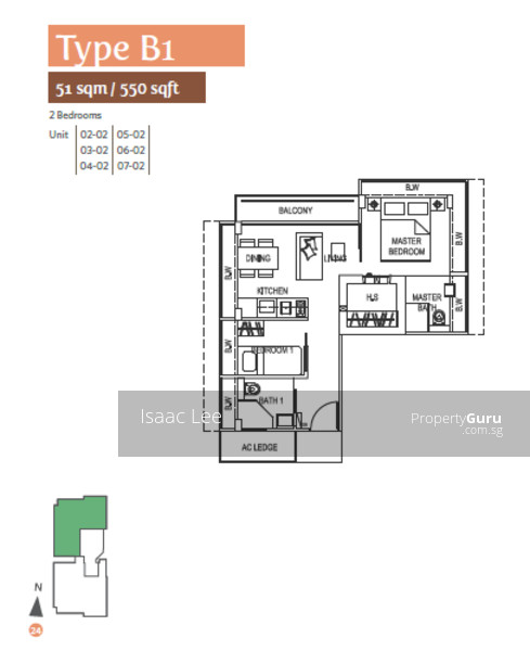 30a Kallang Place 30a Kallang Place 339213 Singapore: 2A Meyer Place, Singapore 437990, 2 Bedrooms, 550 Sqft