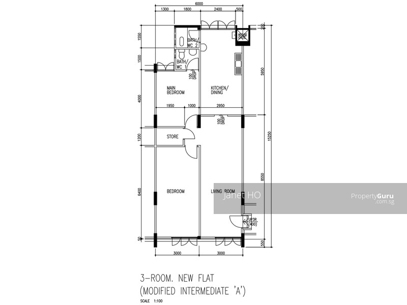 3 room flat floor plan thefloors co for 3 room flat floor plan