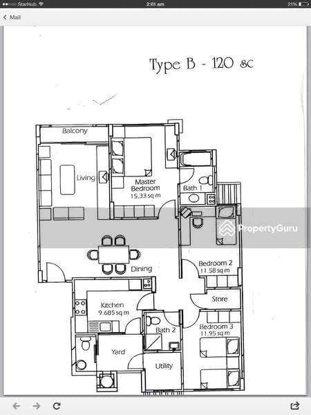 estella gardens 29 flora road 3 bedrooms 1292 sqft
