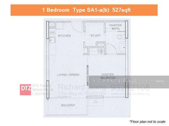 Watertown 65 punggol central 1 bedroom 527 sqft for Apartment design guide sepp 65