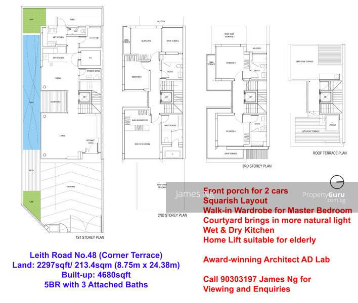 Terraced house floor plan singapore for Inter house design