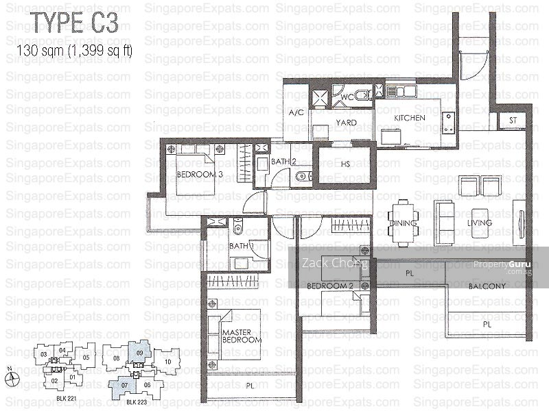 The Metropolitan Condominium, 8 Alexandra View, 3 Bedrooms, 1227 ...