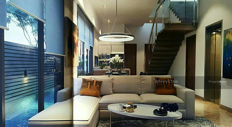 Modern pair of brand new 3 storey semi d with roof for 50 marine terrace