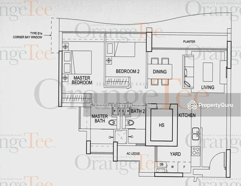 Double Bay Residences, 17 Simei Street 4, 2 Bedrooms, 936 Sqft ...