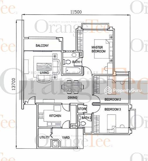 Pinewood Park Apartments: Pinewood Gardens, 25 Balmoral Park, 3 Bedrooms, 1679 Sqft