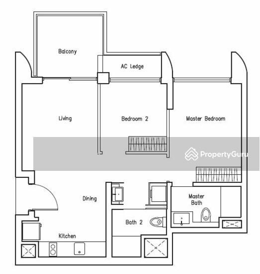Lakeville, Jurong Lake Link, 2 Bedrooms, 721 Sqft
