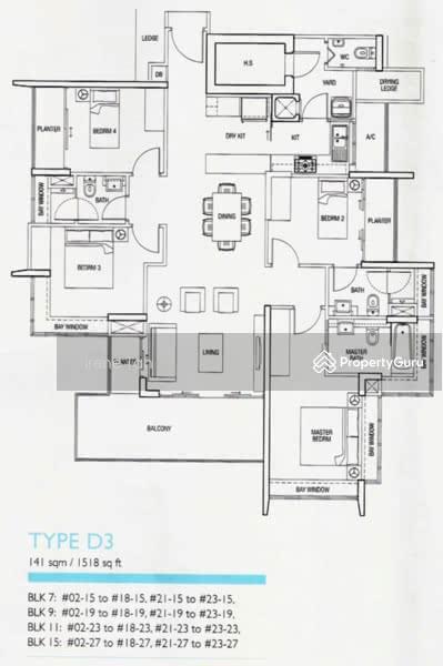 The Parc Condominium, 9 West Coast Walk, 4 Bedrooms, 1518 Sqft ...