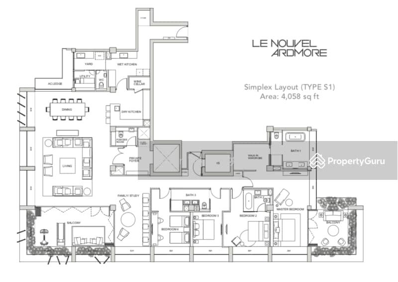 Le Nouvel Ardmore, 1A Ardmore Park, 4 Bedrooms, 4167 Sqft ...