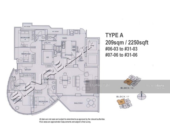Residences @ Evelyn, 15 Evelyn Road, 4 Bedrooms, 2250 Sqft ...
