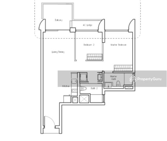 Lakeville, 1 Jurong Lake Link, 2 Bedrooms, 807 Sqft
