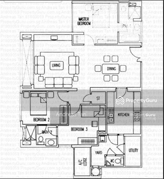 Evergreen Park Apartments: Evergreen Park, 37 Hougang Avenue 7, 3 Bedrooms, 1249 Sqft