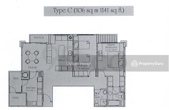 Estella Gardens 27 Flora Road 2 Bedrooms 1141 Sqft Condos Apartments For Sale By Dylan Yeap S 958 000 21424784