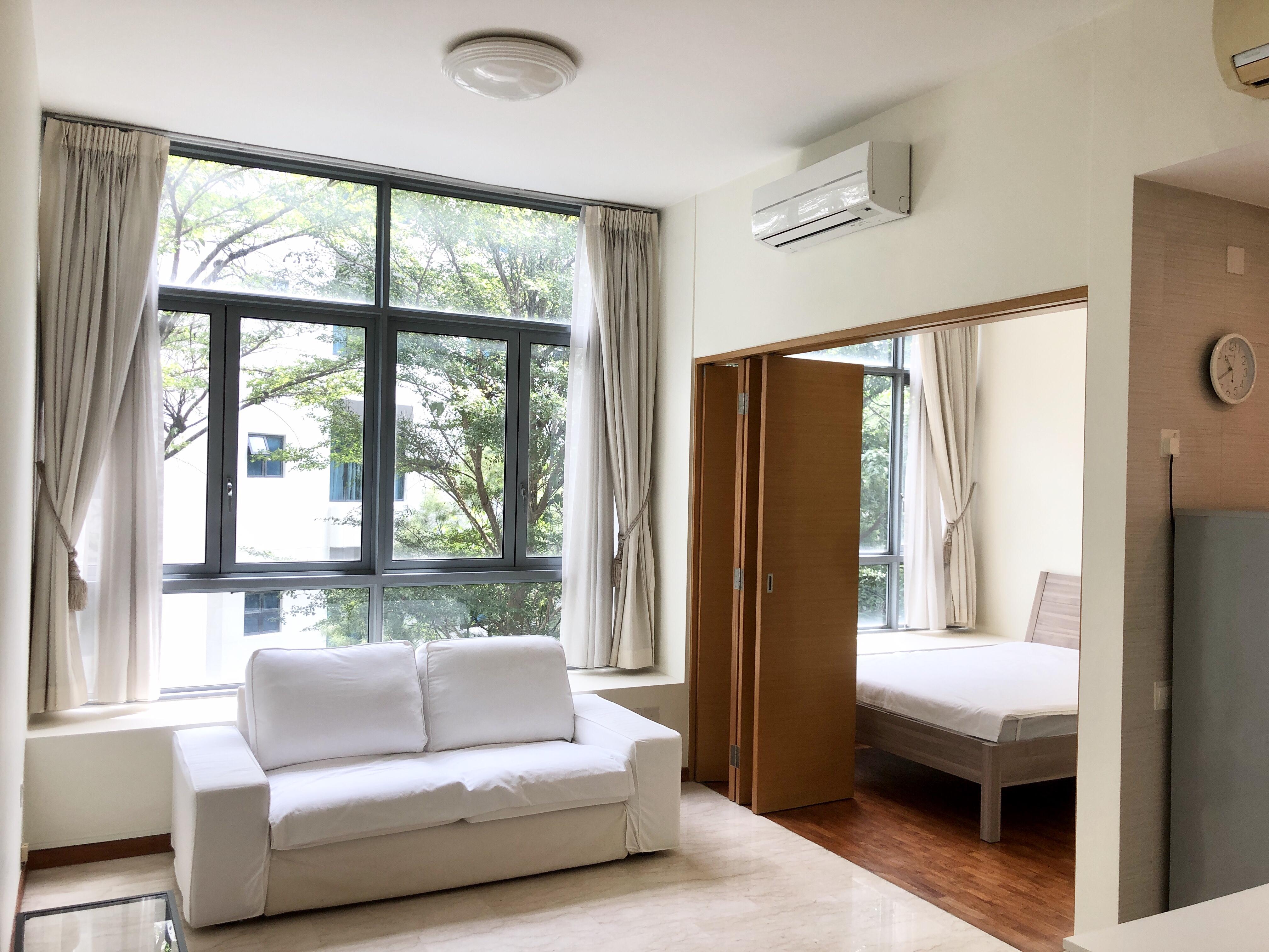 Living Area & Bedroom