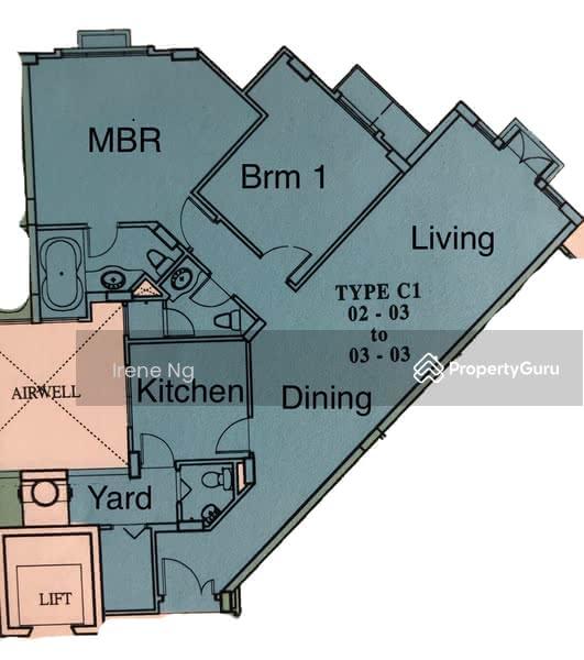 Villa Marina, 29 Jalan Sempadan, 2 Bedrooms, 1131 Sqft