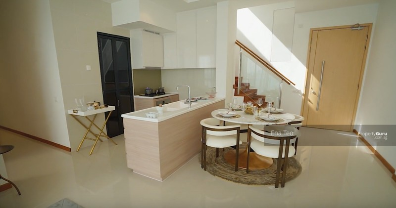 Dining area and open concept kitchen