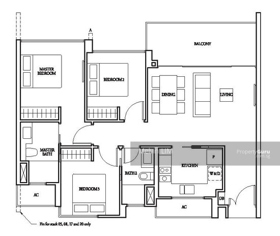 Bartley Ridge, 36 Mount Vernon Road, 3 Bedrooms, 969 Sqft