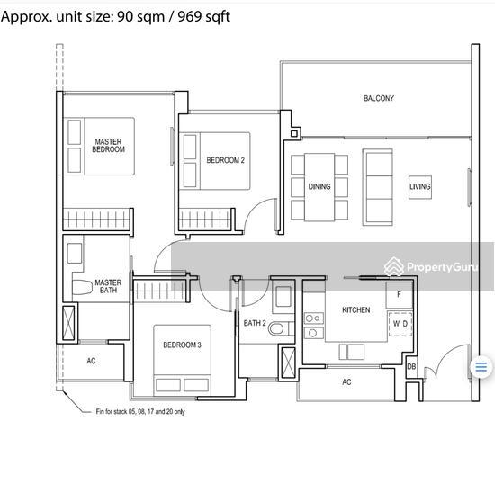 Bartley Ridge, 30 Mount Vernon Road, 1 Bedroom, 108 Sqft