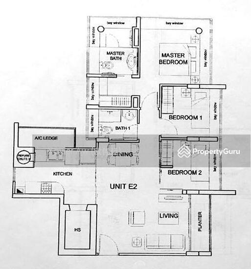 Bayou Residence, 349 Upper Paya Lebar Road, 3 Bedrooms