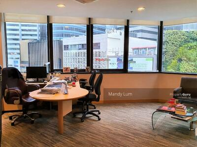 For Rent - Prominent Fitted Office above Raffles Place MRT