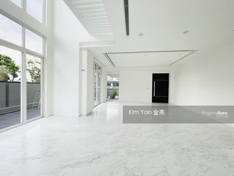 Brand New and Freehold Semi-D with Lift, Living/dining hall with marble floor, Sixth Avenue MRT #127638257