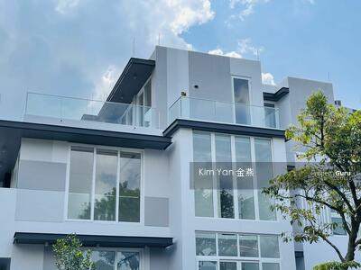For Sale - Brand New and Freehold Semi-D with Lift, Living/dining hall with marble floor, Sixth Avenue MRT