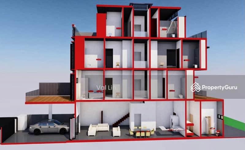 D19 Simon Lane ★ $4.38m TOP 2021 Brand New Modern 3.5 Storey Terrace House Near Kovan MRT #128152457