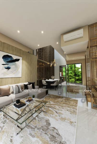 Modern Luxurious Living Concept Strata House With Full Condo Facilities #128587239
