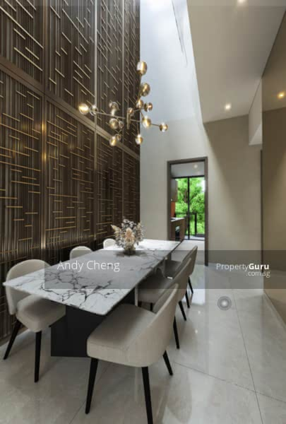 Modern Luxurious Living Concept Strata House With Full Condo Facilities #128587241