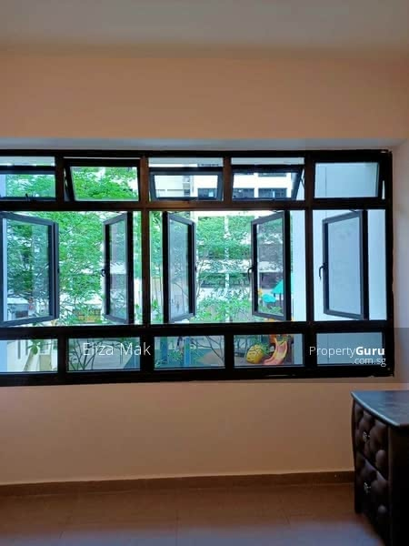 Very Big Windows with unblocked Greenery View, Bright & Airy, No afternoon sun