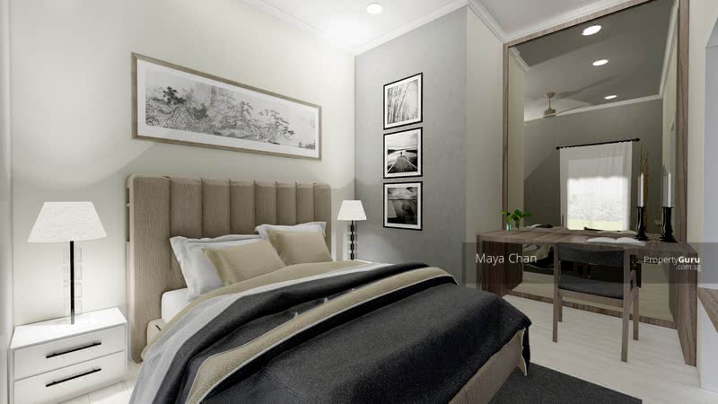 BR 2, Queen bed, Study Area