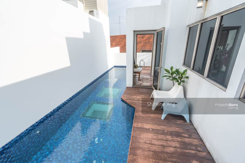 Private rooftop pool and deck