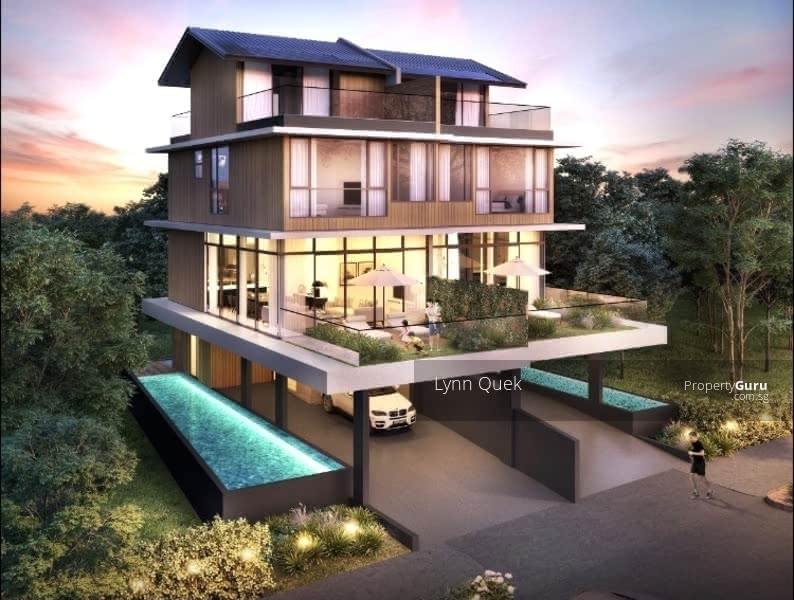 Modern 31/2 Storey Semi-detached house with pool and lift.