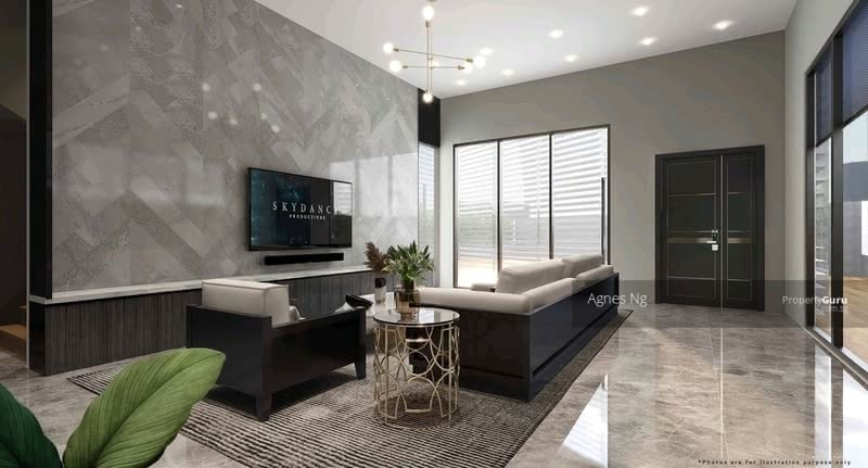 ⭐⭐Landed7772@Luxurious Brand New Bungalow, Glass Bricks Home Within 1Km to SCGS. #129217941