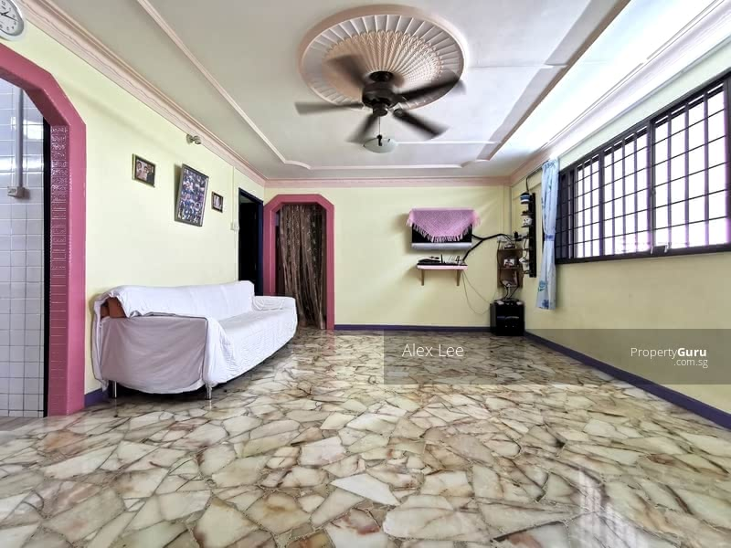 Living Hall With Marble Flooring.