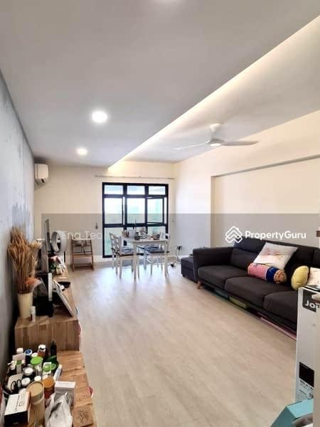 Spacious living room in Minimalist Scandinavian style
