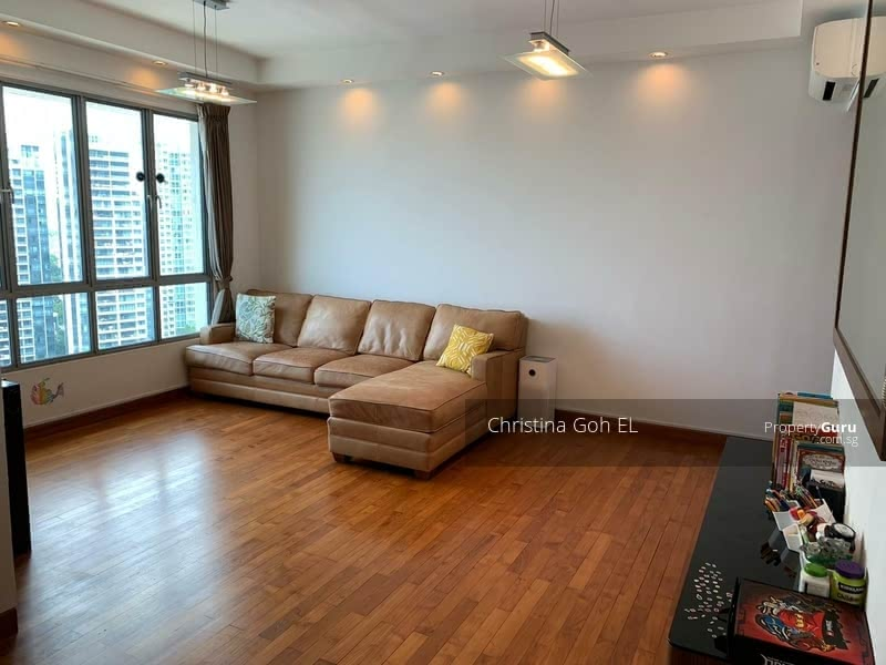 Living Area with renovated with wood flooring