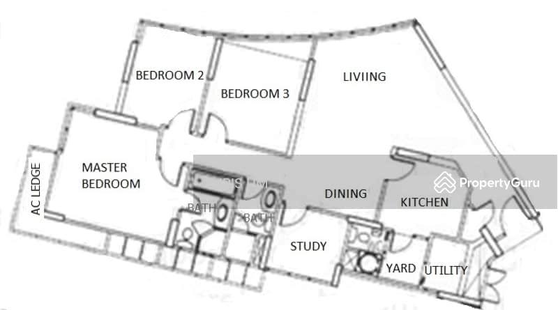 Rafflesia Condo 31 Bishan Street 21 3 Bedrooms 1324