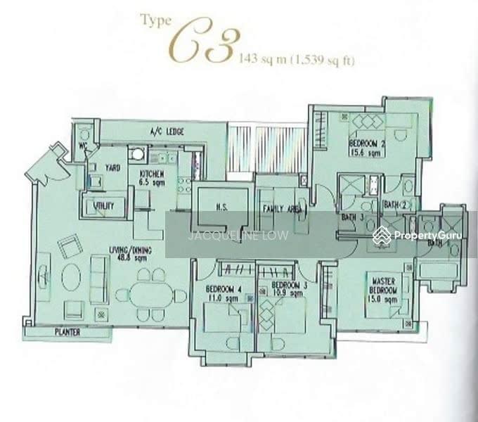 Goldenhill Park Condo 60 Mei Hwan Drive 4 Bedrooms 1539