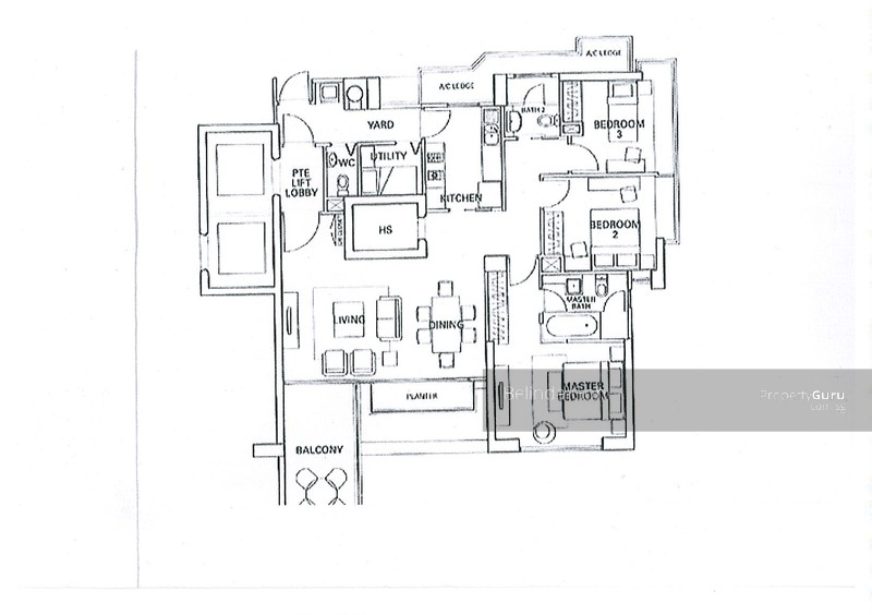 Residences @ Evelyn, 17 Evelyn Road, 3 Bedrooms, 1539 Sqft ...