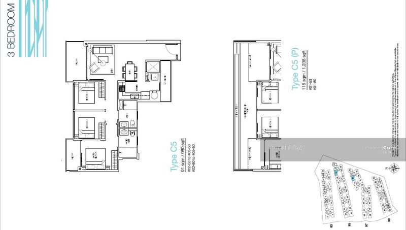 The Nautical Official Floor Plans for 3Bedroom Register to Get – How To Get A Floor Plan
