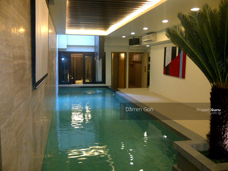 5 storey house with basement pool inggu road 7 for Basement swimming pool ideas